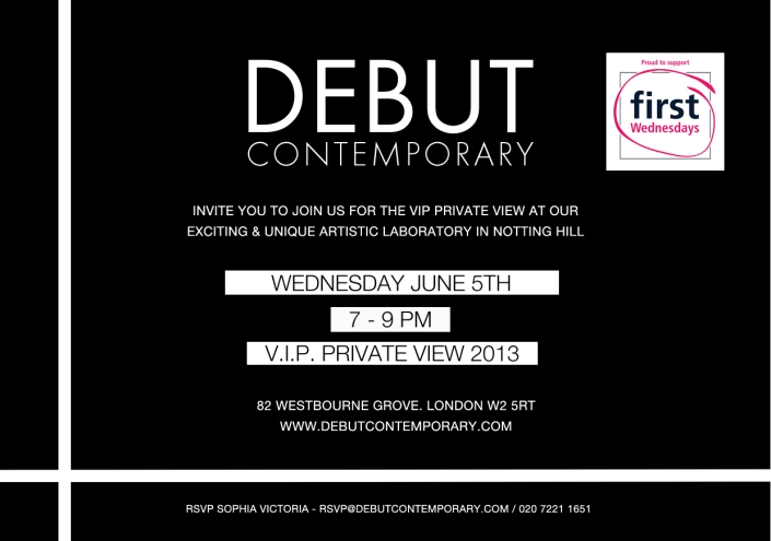 Debut Contemporary - Private View Invitation