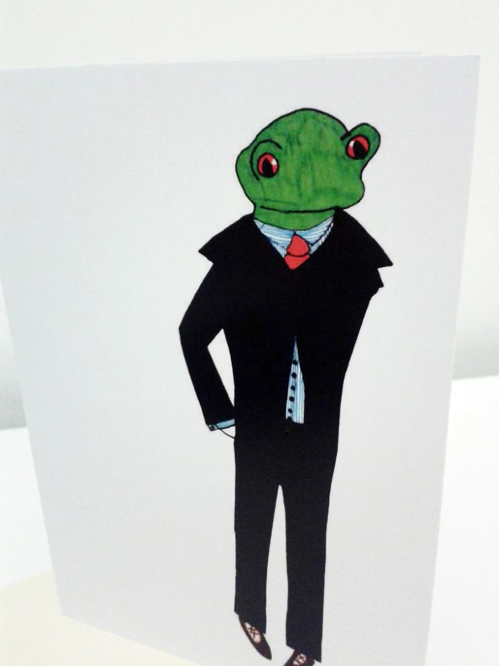Dapper Frog Prince Card Veronica Rowlands