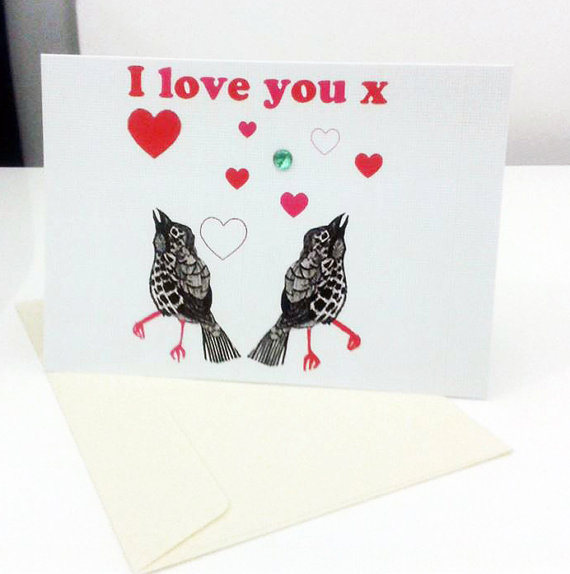 Two little birds Valentines day