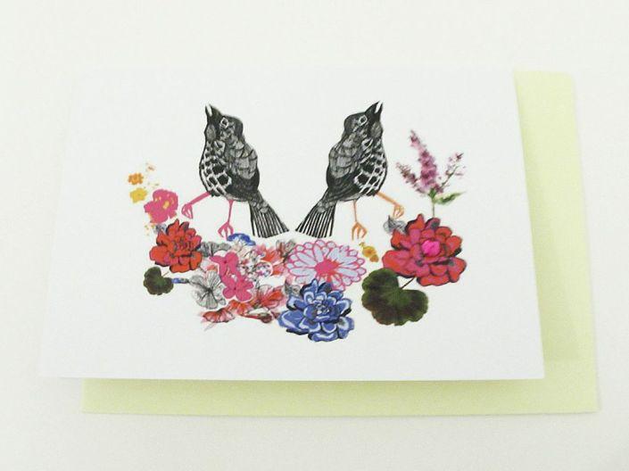 Floral Birdie Card