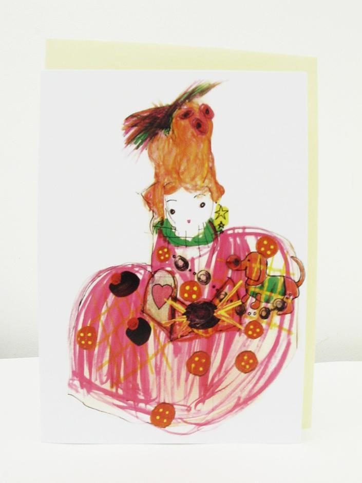 Vintage Doll Card
