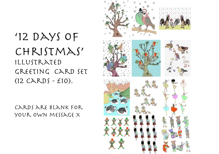 12 Days of Christmas Card set