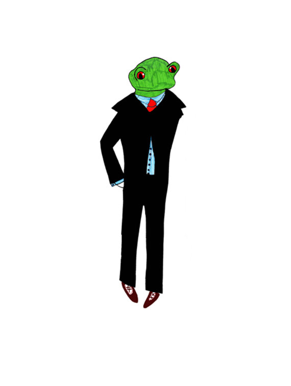 Dapper Frog Giclee Print Veronica Rowlands
