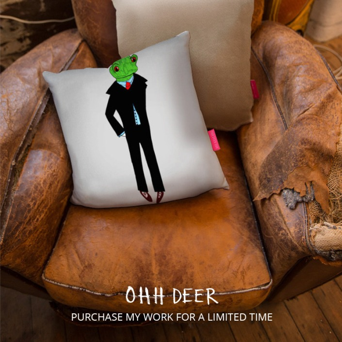 montage_Dapper Frog Cushion_sq