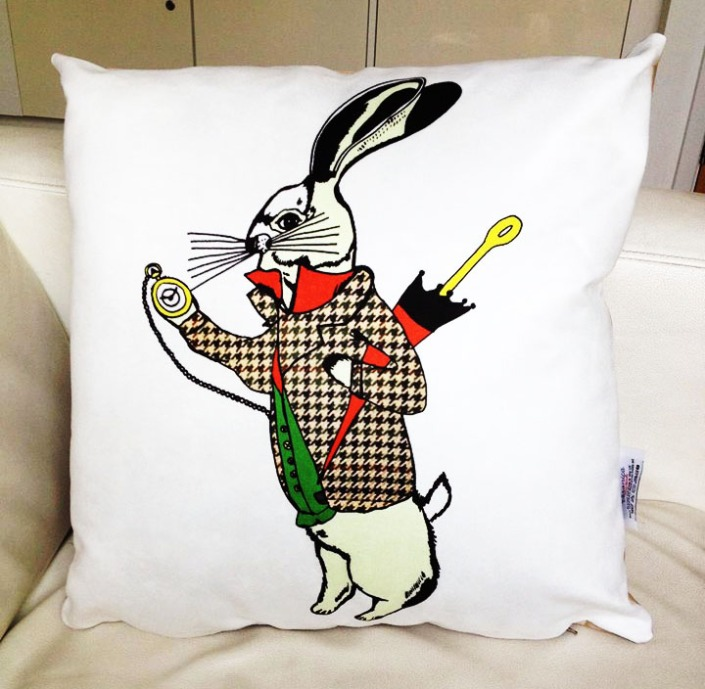 White Rabbit Cushion finished