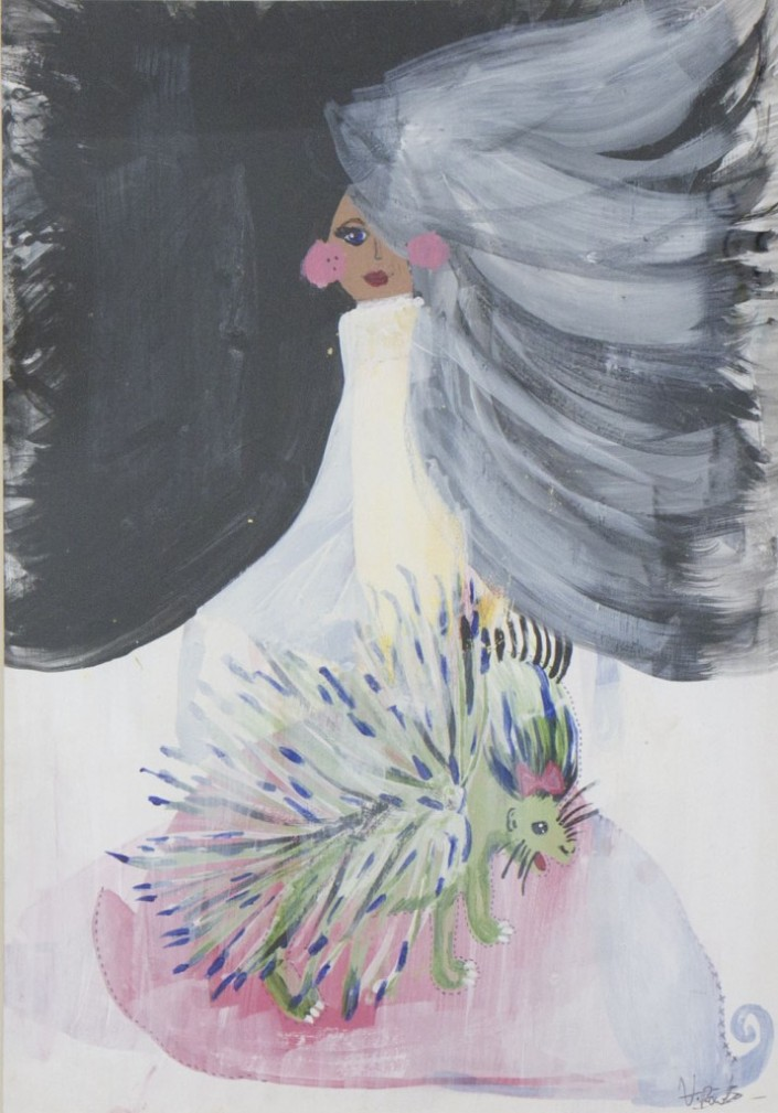 Veronica-Rowlands-Surreal-Fashion-Doll-5-2012-Mixed-Media-Acrylic-gesso-pastel-and-ink-39x51cm-£560-715x1024