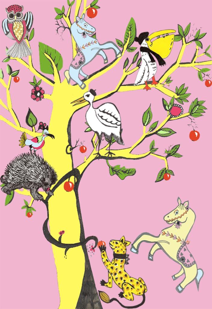 Tree of Life 2 pink