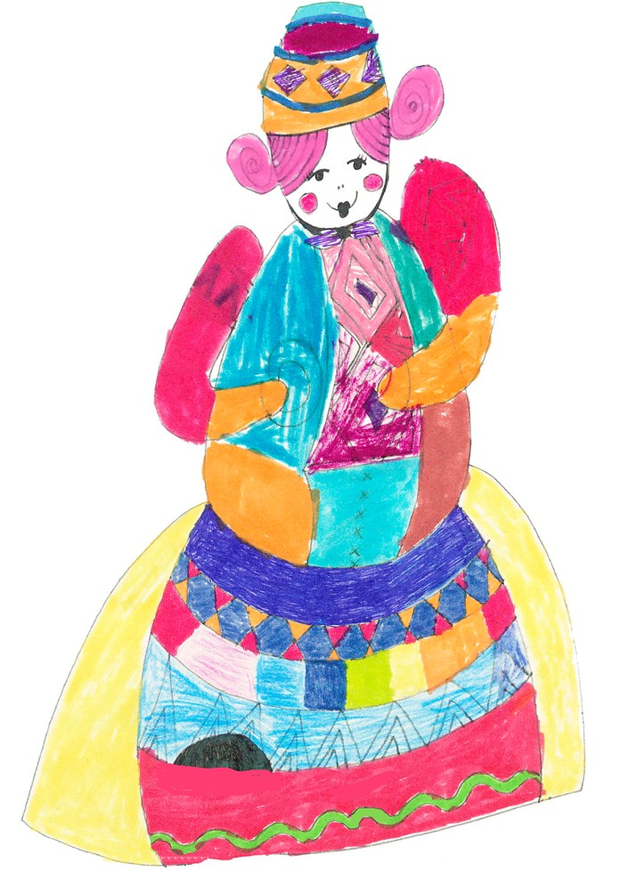 Patchwork doll small