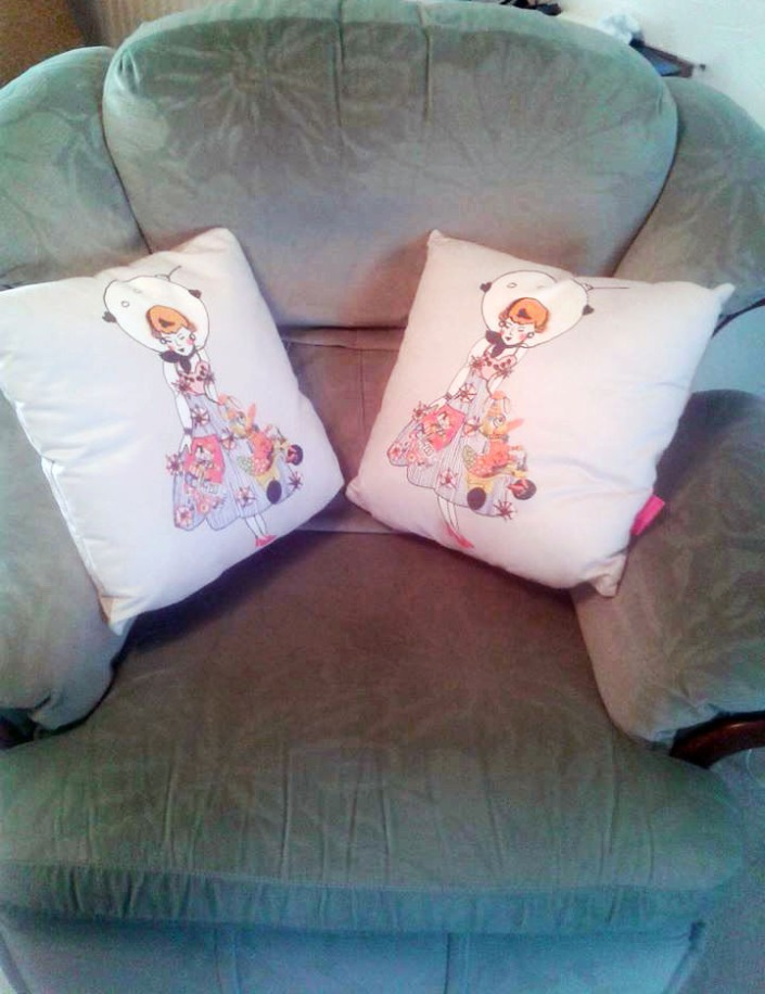 Space Dolls on cushions