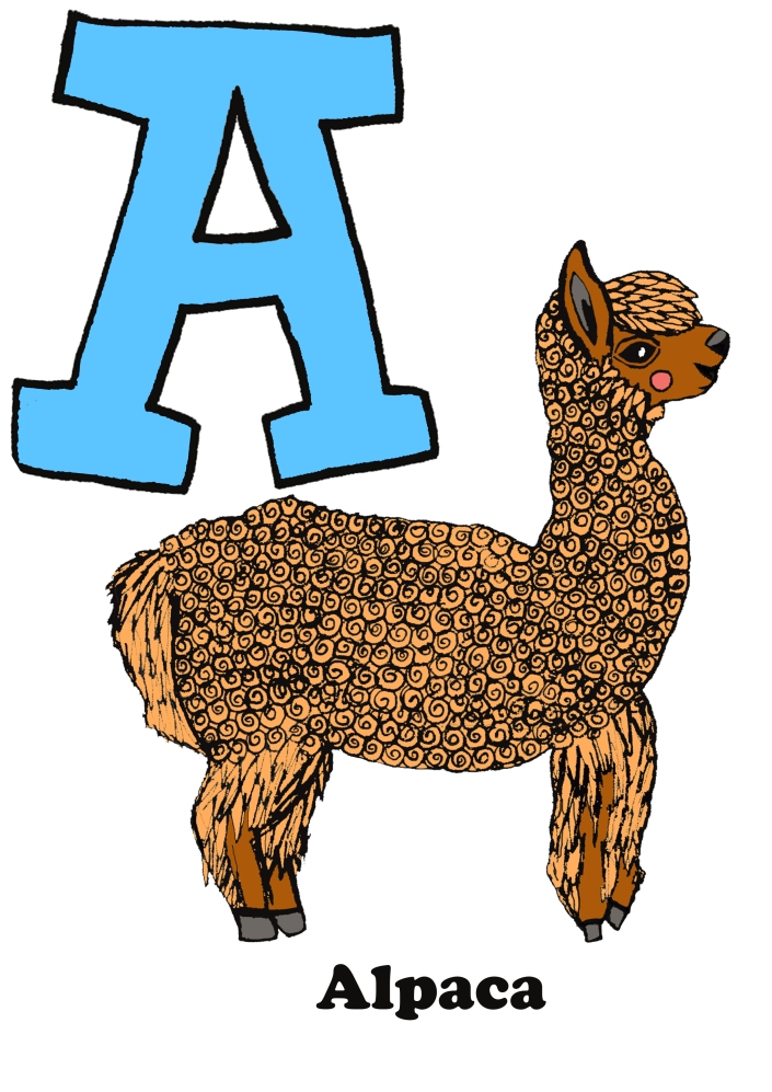 a-for-alpaca-flat